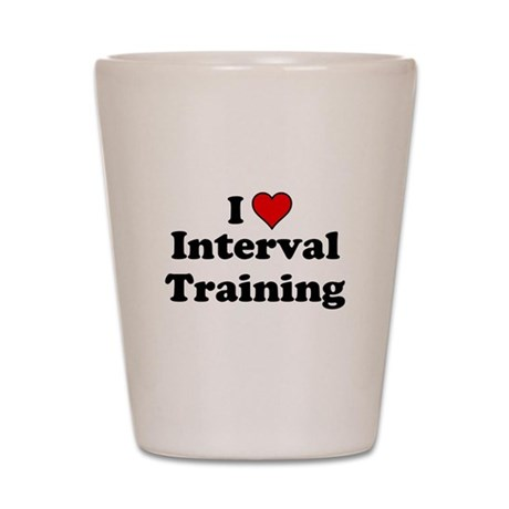 I Heart Interval Training Shot Glass