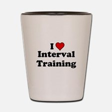 I Heart Interval Training Shot Glass