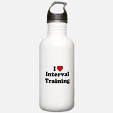 I Heart Interval Training Water Bottle