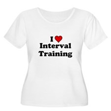 I Heart Interval Training Plus Size T-Shirt