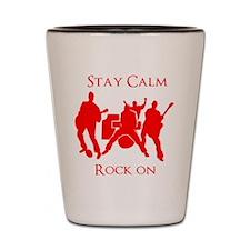 Stay Calm Rock On Mens Music T Shirt Shot Glass