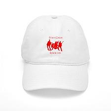 Stay Calm Rock On Mens Music T Shirt Baseball Baseball Baseball Cap