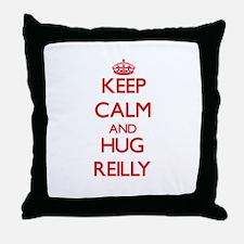 Keep calm and Hug Reilly Throw Pillow