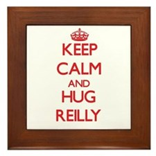 Keep calm and Hug Reilly Framed Tile