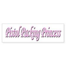 Pistol Packing Princess Bumper Bumper Bumper Sticker
