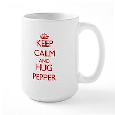 Keep calm and Hug Pepper Mugs