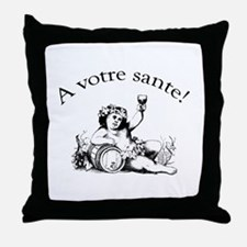 French Toast Wine Throw Pillow