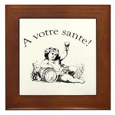 French Toast Wine Framed Tile