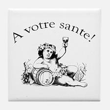 French Toast Wine Tile Coaster