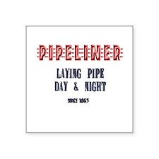 Laying Pipe Day Night Sticker