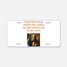 film festival Aluminum License Plate