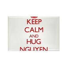 Keep calm and Hug Nguyen Magnets