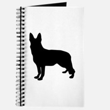 German Shepherd Silhouette Journal