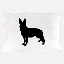 German Shepherd Silhouette Pillow Case