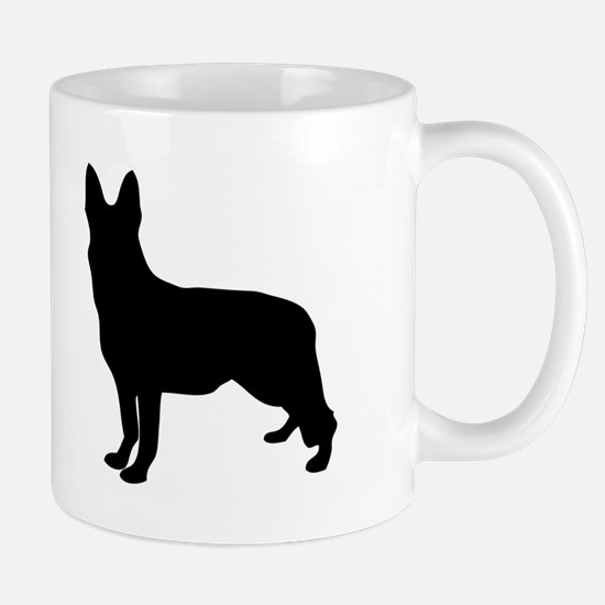 German Shepherd Silhouette Mugs