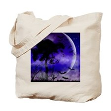 Purple Night Moon Tote Bag