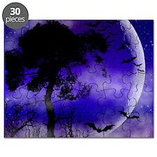 Purple Night Moon Puzzle