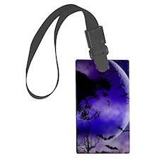 Purple Night Moon Luggage Tag