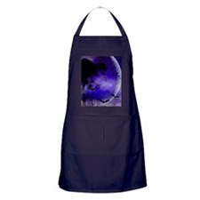 Purple Night Moon Apron (dark)