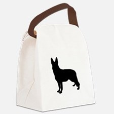 German Shepherd Silhouette Canvas Lunch Bag