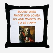 bookstore Throw Pillow