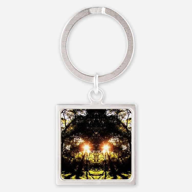 DMT Ferntree Forest Square Keychain