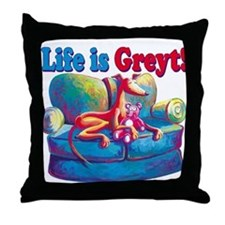 Life is Greyt! Throw Pillow