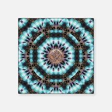 """Om Shanti Fractals Square Sticker 3"""" x 3"""""""