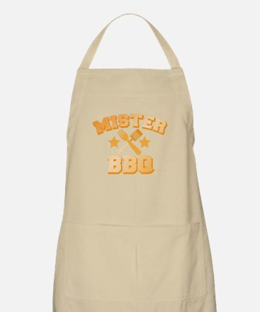 Mister BBQ Barbecue with spatula and fork Apron