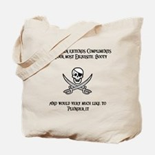 Captain's Compliments Tote Bag