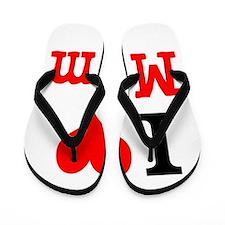 I Love Mom Flip Flops