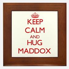 Keep calm and Hug Maddox Framed Tile