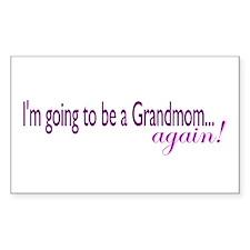Grandmom Again Rectangle Decal