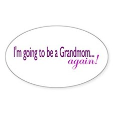 Grandmom Again Oval Decal