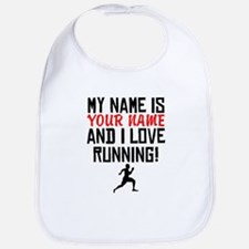 My Name Is And I Love Running Bib