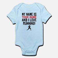 My Name Is And I Love Running Body Suit