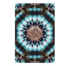 Om Shanti Fractals Postcards (Package of 8)