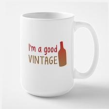 Im a GOOD VINTAGE with vino wine bottle Mugs