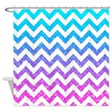 Glitter chevron shower curtain Shower Curtains