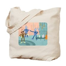 Sock Monkey Robot Cocktail Party Tote Bag
