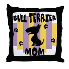 Bull Terrier Mom Throw Pillow