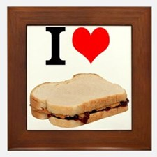 I Love Peanut butter and Jelly Sandwich Framed Til