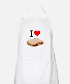I Love Peanut butter and Jelly Sandwich Apron