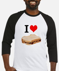 I Love Peanut butter and Jelly Sandwich Baseball J