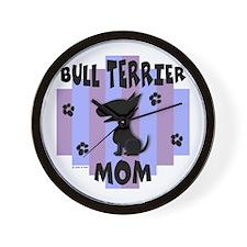 Bull Terrier Mom Wall Clock