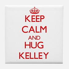 Keep calm and Hug Kelley Tile Coaster