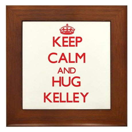 Keep calm and Hug Kelley Framed Tile