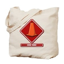CONE ZONE! RED PLACARD Tote Bag