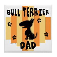 Bull Terrier Dad Tile Coaster