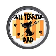 Bull Terrier Dad Wall Clock